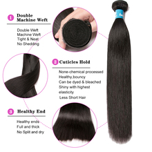 Straight Double Human Hair Weave Bundle