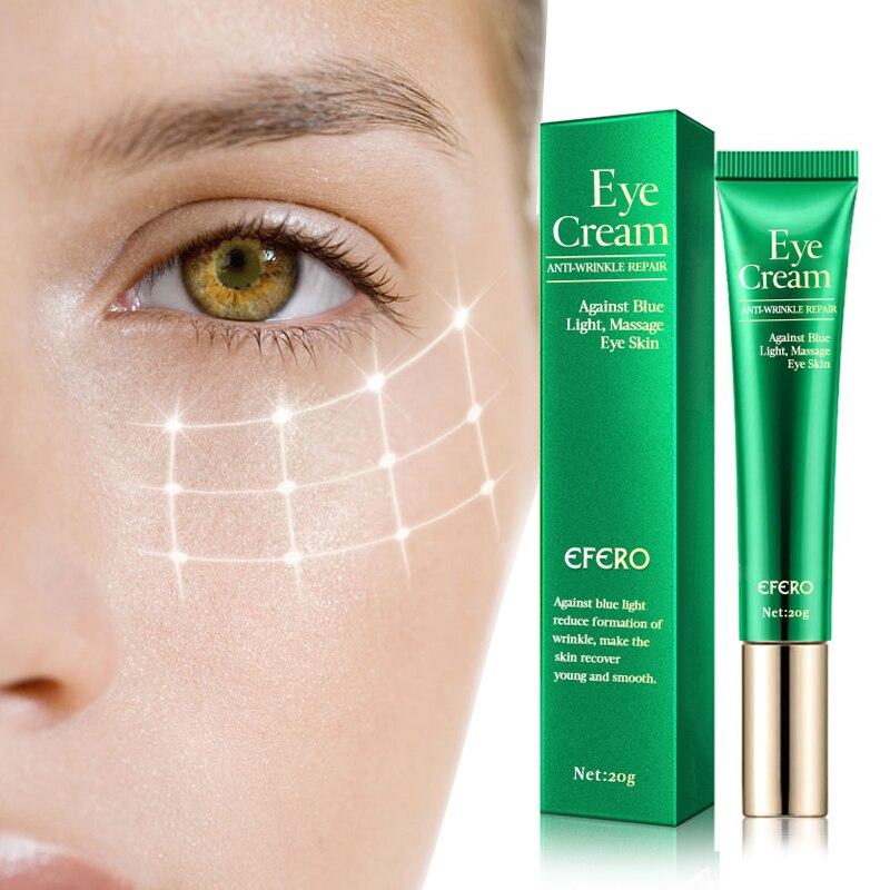 EFERO Anti Wrinkle Eye Cream Against Blue Light Nourishing Eyes Remove Dark Circles Repair Dry Skin Fine Lines Peptide Eye Cream