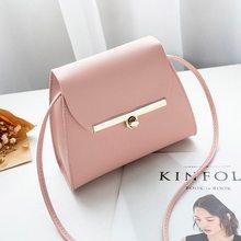 цены Monerffi Pu Leather Crossbody pink bag for Women Girls Color Mini Messenger Simple Flap Shoulder Chest Bag Cross Body Handbags