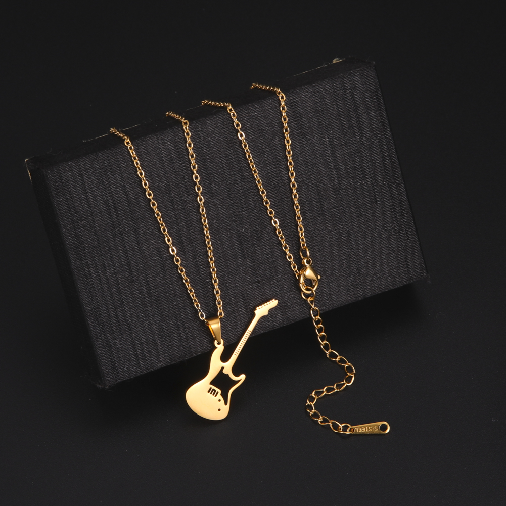 My Shape Guitar Necklace Stainless Steel