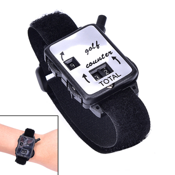 Golf Club Stroke Score Keeper Count Watch Golf Stroke Counter Putt Shot Counter with Wristband Band Golf Training Aids image