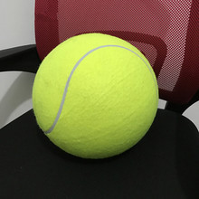 Large tennis signature 24cm inflatable  holiday gift pet 9.5 inch chew toy dog Playmates durable green