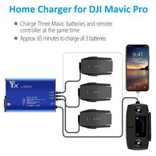 Voor Mavic Pro 5In1 Multi Smart Batterij Opladen Hub Intelligente Home Charger voor DJI Mavic Pro & Platina Drone Camera accessoires