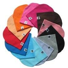 Solid Children Knitted Hat Newborn Baby Winter Cotton Warm Cap