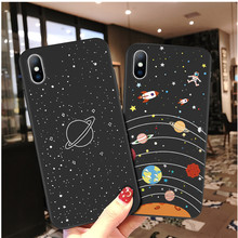 Moskado Earth Moon Case For iPhone 6 6S 7 8 Plus X XR XS Max Case Planet Pattern Couple Soft TPU For iPhone 5 5S SE Phone Cover стоимость