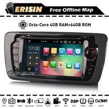 "ES8122S 7"" Car Radio CarPlay Android 10.0 Octa Core Autoradio GPS DVD DAB FM WiFi 4G Bluetooth OBD TPMS for SEAT IBIZA 2009 2013"