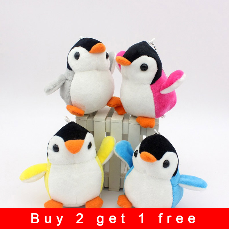10cm Penguin Doll Stuffed & Plush Animals Soft Toys Baby Toy Bag Hanging Ornaments Children Birthday Holiday Gift Key Ring Q31