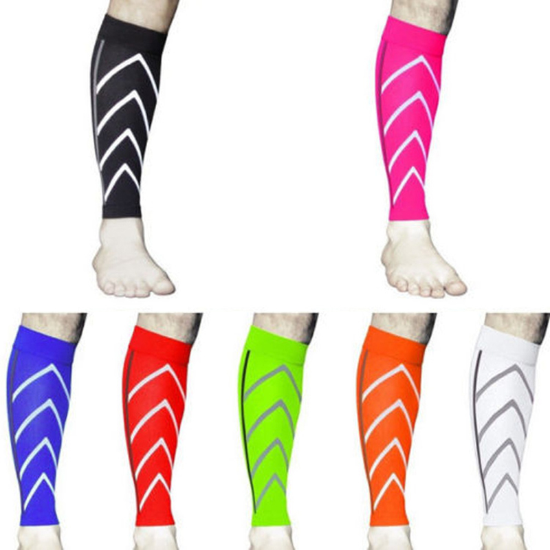 Exercise Compression Calf Support Graduated Compression Socks Safety night running nylon fluorescent leggings Basketball 1 Pair