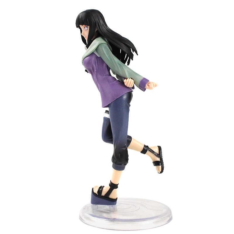 20cm אנימה דמויות נארוטו-Shippūden Hyūga Hinata Pvc פעולה איור דגם בובת אוסף צעצועי מתנה לילדים