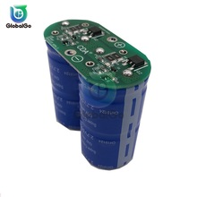 2pcs 6pcs Single Row Super Farad Capacitor Module 16V 20F 16.6F 5.4V 250F Car Motor Capacitor Power Battery Protection Board