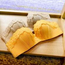 Neue Spitze Stickerei Unterwäsche Frauen Kleine Brust Padded Push Up Bh Set Sexy Komfortable Drahtlose Einstellbar Dessous Höschen