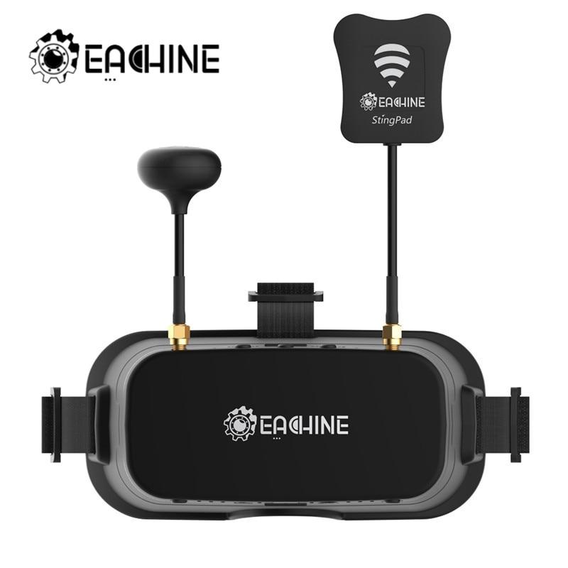 Gafas de protección Eachine EV800DM Varifocal 5,8G 40CH Diversity FPV con HD DVR 3 pulgadas 900x600 auriculares de vídeo con batería incorporada