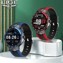 Lige 2021 novo relógio inteligente relógio esportivo masculino freqüência cardíaca monitoramento de pressão arterial lembrete sono ip68 à prova dip68 água android e ios