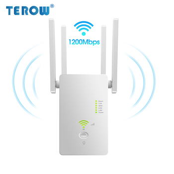 TEROW AC1200 1200Mbps Mini Gigabit Wifi Router Dual Band 2.4GHz&5.8GHz Wifi Repeater Signal Extender Wireless AP/Repeater/Router 1
