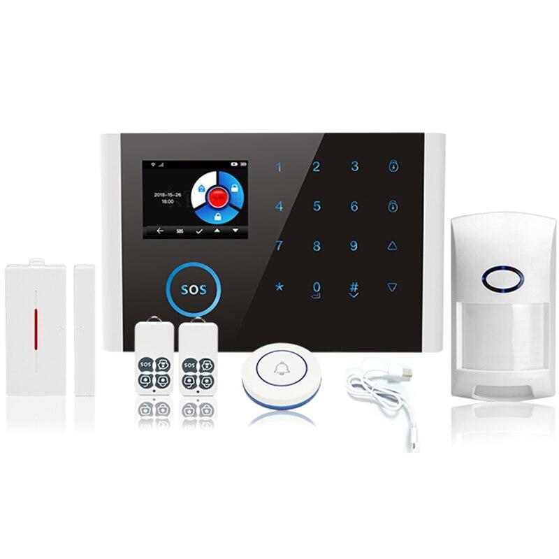 Беспроводной Gsm Sms Wifi умный дом ОФИС охранная сигнализация комплект