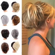 Chignon Bun Scrunchie Ponytail Hair-Pieces Donut Elastic-Hair-Bands LUPU Synthetic-Messy