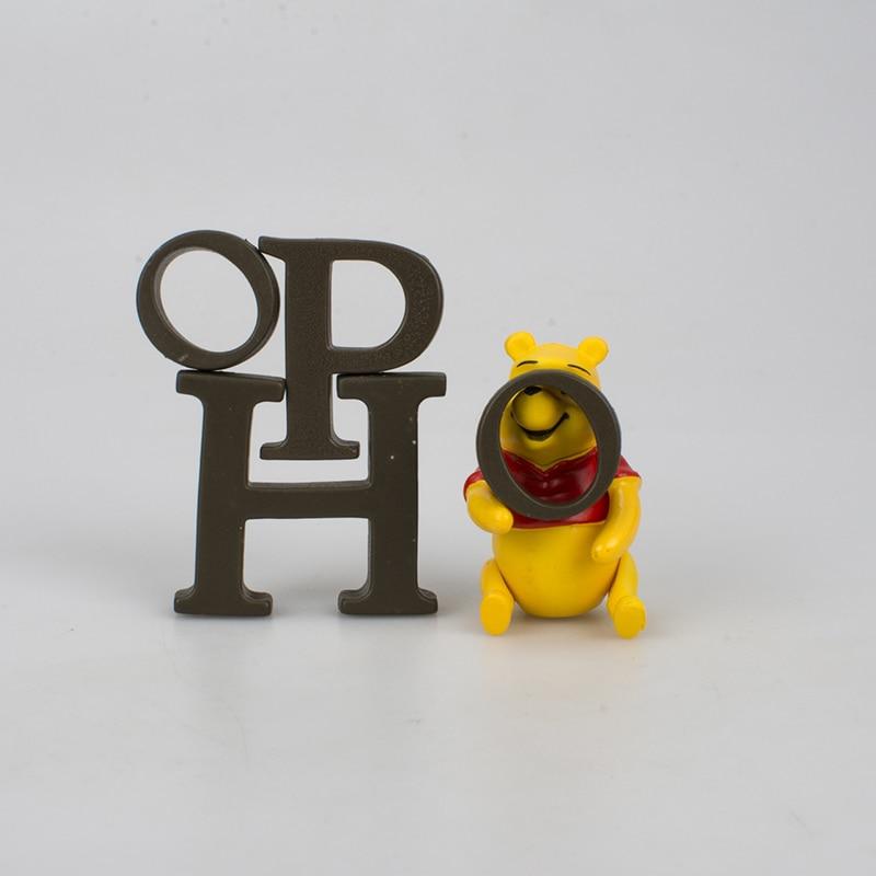 Image 4 - Disney Toy Winnie The Pooh Tigger Piggy Pijie with Honey Jar Action Figures 2 5cm Children Birthday Gifts Toys Decoration 5DWDolls   -