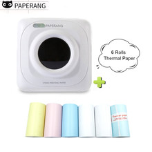 PAPERANG Photo Picture Mini Portatile Stampante Termica Bluetooth Wireless pocket stampante impressora de fotosimprimante thermique(China)