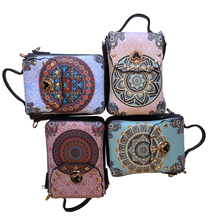 Leather Mini Wallet Women's Wallet Travel Bag Colored Leisure Bag New Chinese Elements to Send Parents Good Quality недорого