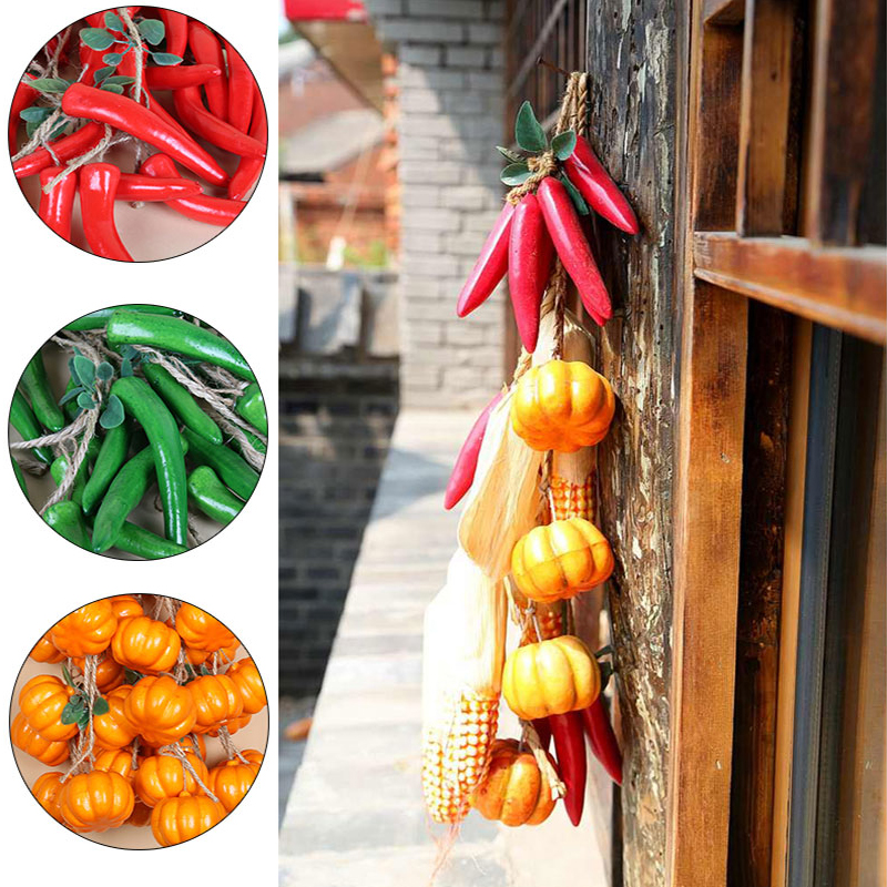 Erxiaobao Carrot Pumpkin Pepper Potato Cucumber Simulated Artificial Vegetables Fake Food Home Wall Farm House Decor