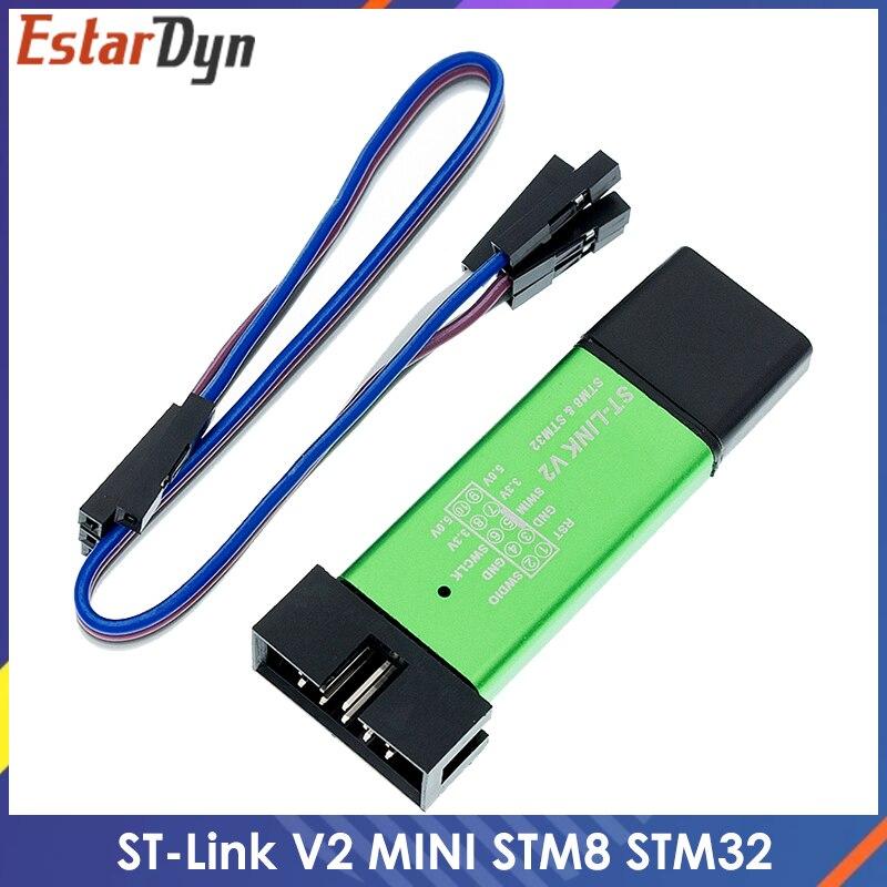 ST LINK Stlink ST-Link V2 Mini STM8 STM32 симулятор загрузки программирования с покрытием кабель DuPont