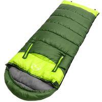 Outdoor Camping Sleeping Bag Adult Envelope Type Portable Lightweight Splicing Fleabag Zipper Thermal Travel
