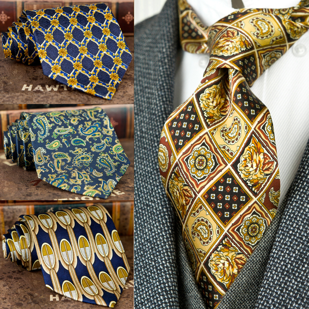 Handmade Printing Mens Ties Necktie Pattern Paisley Geometric 100% Silk Printed Classical Free Shipping Unique Suit Gift For Men