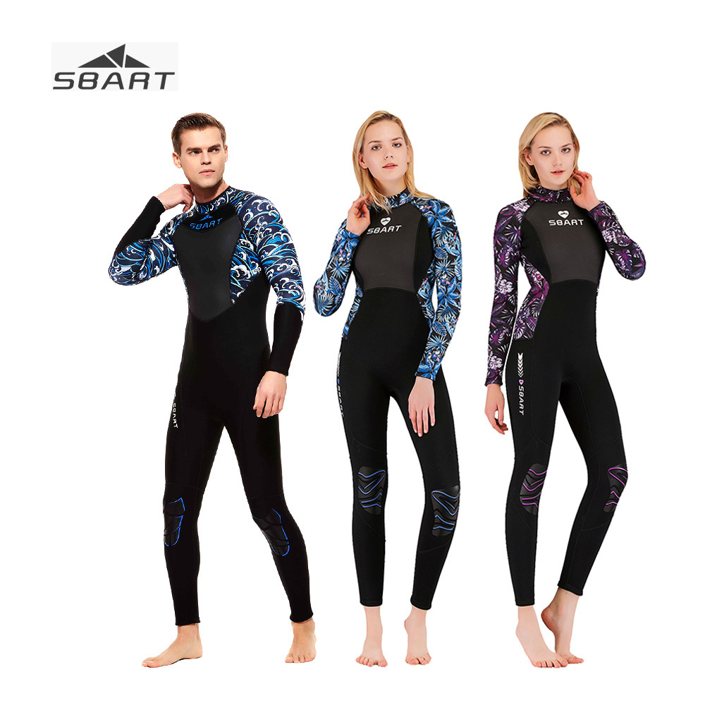 Terno de Mergulho 3mm de Corpo Sbart Inteiro Caça Submarina Wetsuit Neoprene Surf Mergulho One-proteção Solar Pedaço Grosso Wetsuits Par