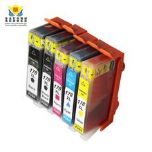 Cartucho de tinta compatível para hps178 JIANYINGCHEN xl para hp photosmart 5510 5520 5524 (5 pçs/lote) grátis promoção Frete grátis
