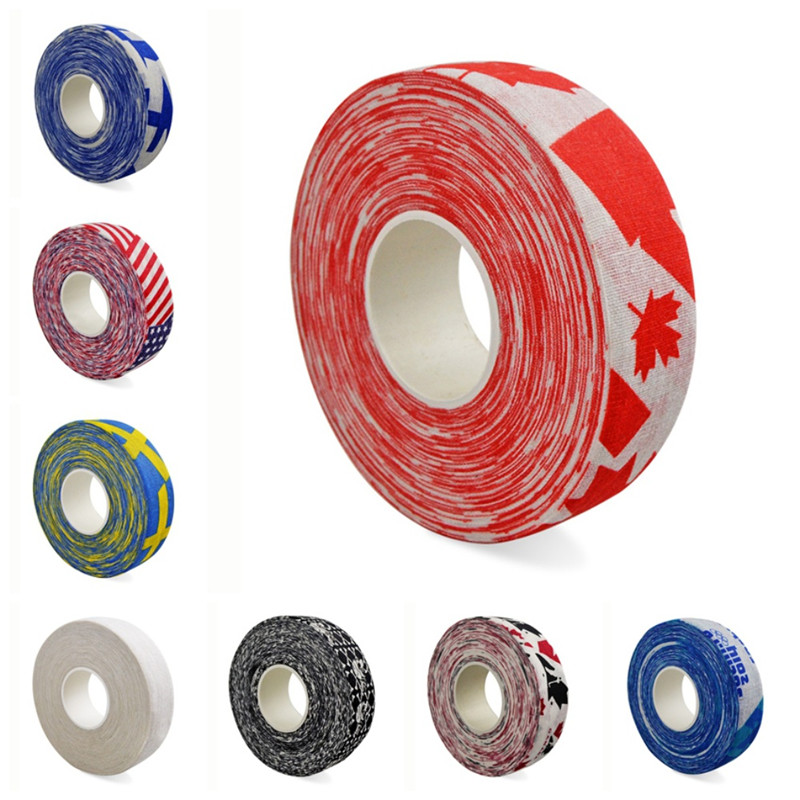 Hockey Stick Tape Multipurpose Colorful Sport Safety Cotton Cloth Enhances Ice Field Hockey Badminton Golf Tape Hot
