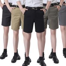 ICPANS 2020 Summer Casual Shorts Men High Waist Cotton Straigh Loose Knee Length Mens Shorts plaid knee length casual mens shorts
