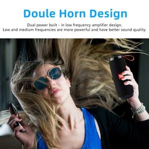 Image 3 - Bluetooth Wireless Speakers Waterproof  Stereo Column Portable Speaker with Mic FM Radio MP3 Bass Sound Box