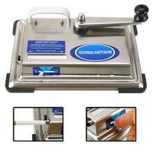 Maszynka do papierosów ze stali nierdzewnej wałek ręcznie łukowaty tytoń urządzenie do zwijania ręczna maszyna do napełniania papierosów palenie narzędzia DIY