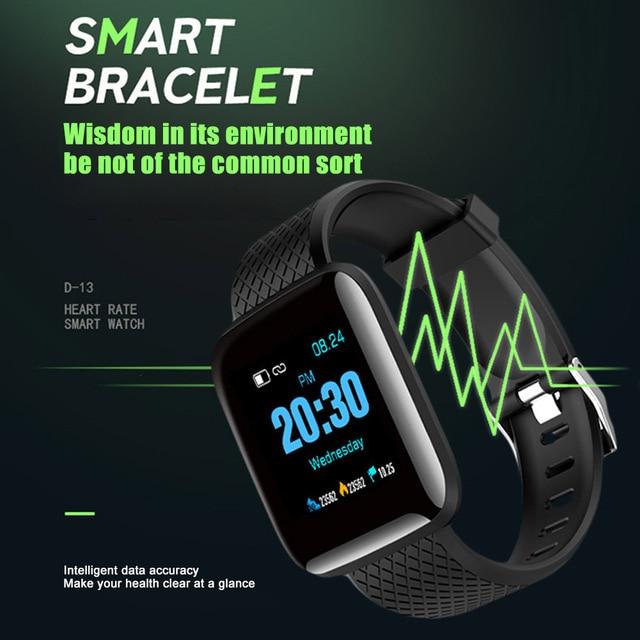 New Arrival Color Screen Smart Bracelet Fitness Sports Health Monitoring Sports Bracelet Watch