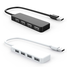 USB 2.0 4 Ports Hub Extension Splitter Adapter for Laptop PC Computer Charger все цены