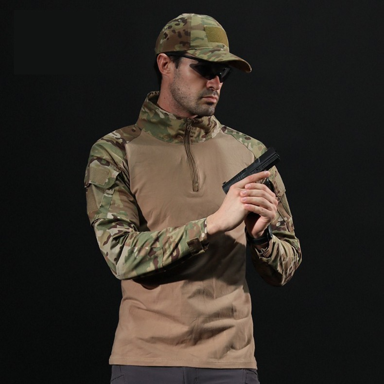 H4dec6e53ce1042cd93cd1db3f62fd154l - Men Outdoor Tactical Military Hiking T-Shirts Male Army Camouflage Long Sleeve Sports Shirt Breathable Hunting Fishing Clothes