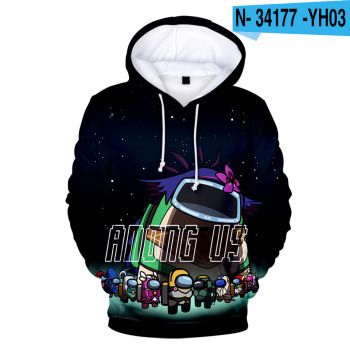 New Autumn Winter Tops Funny Print Among Us Hoodie Cartoon 3D Printed Pullover Sweatshirt Adult Harajuku Anime Pullover 10