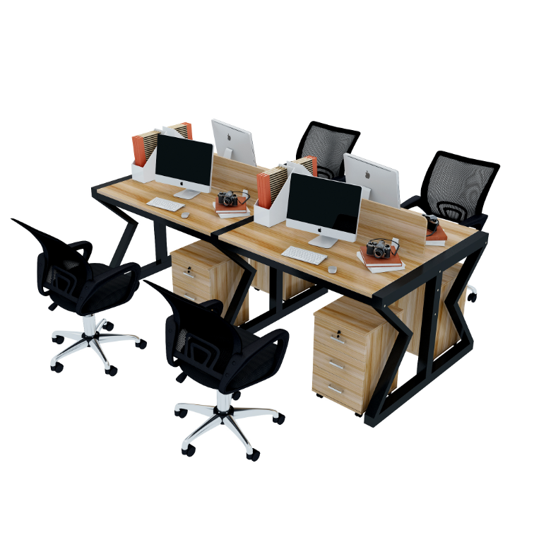Office desk and chair 4 / 6 person staff desk and chair combination company office furniture employee position