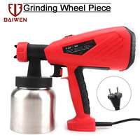 800W Electric Handheld Spray Gun Paint Sprayers HVLP Flow Control Airbrush Spraying Painting Tools Easy Spraying and Clean