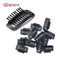 HUAYA Wig Accessories Hair Wig Cap Combs Hair Extension Snap Clips Black U-Shape Hair Snap Clips for Wig