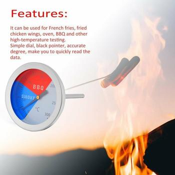 Termómetro de 300 grados/100 ~ 550F para barbacoa, barbacoa, medidor de temperatura para exteriores, herramienta de campamento, termómetro para barbacoa y comestibles