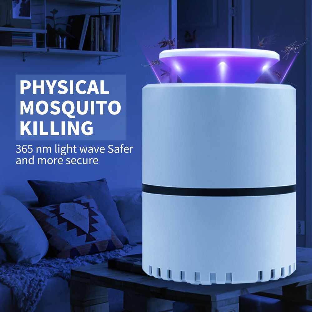 USB 5V Anti Mosquito Killer Electric Insect Repellent Fly Killer Lamp LED Light Photocatalysis Mute LED Bug Zapper Lamp For Home