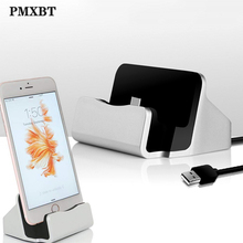 Desktop Charger Cradle Sync Data Phone Usb Cable Charger For iPhone Micro USB Type C Docking Fast Charging Dock Station Pad Base micro usb charging dock charger data cradle