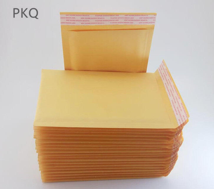 100pcs Small <font><b>large</b></font> 11*15/13*21cm Yellow Kraft <font><b>Bubble</b></font> <font><b>Mailers</b></font> Padded Envelopes Shipping Bag Self Seal Business School Office image