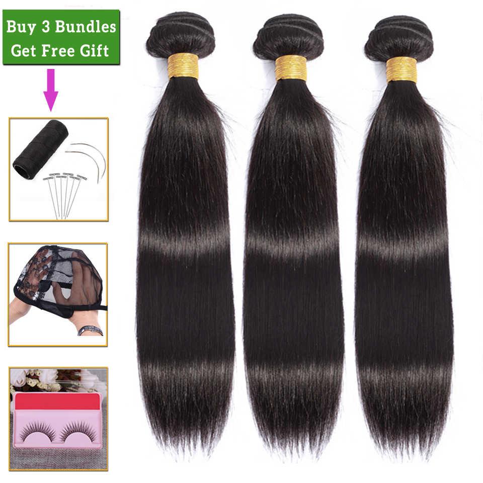 Pelo lacio LEVITA, 3 mechones, ofertas 100% extensiones de cabello humano, mechones, mechones, extensiones de pelo ondulado brasileño, mechones, extensión de cabello no remy