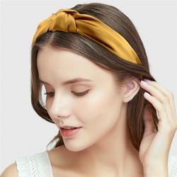 Kobiety satin Knot opaski dla kobiet prosta tkanina w jednolitym kolorze dziewczyny Hairband kobiety akcesoria do włosów szerokie boczne opaski do włosów