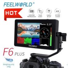 FEELWORLD F6 PLUS 5.5นิ้วIPS 3D LUTหน้าจอสัมผัส4K HDMI Full HD 1920X1080กล้องfield Monitorสำหรับกล้องวิดีโอDSLR