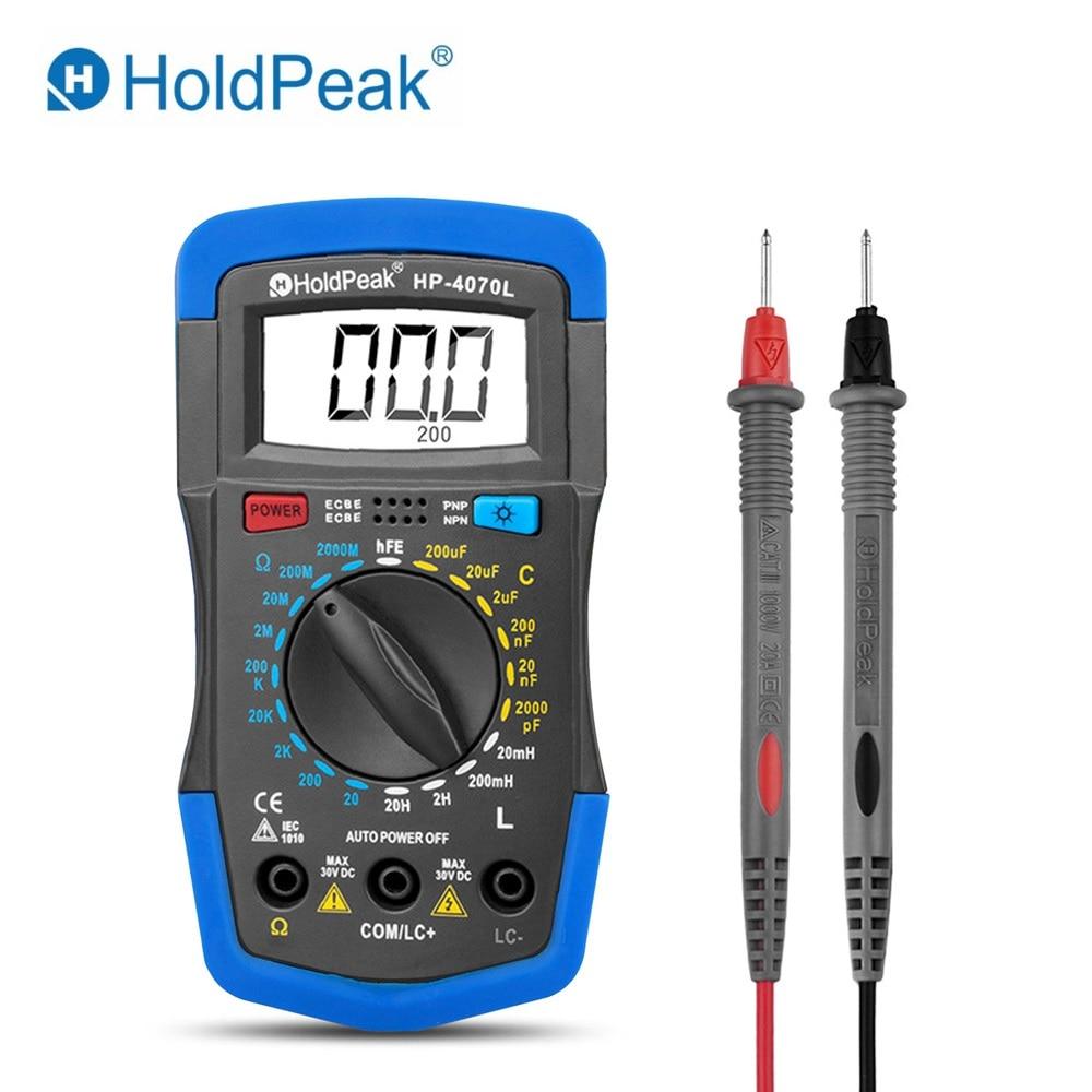 Misuratore LCR digitale HP-4070L / Misuratore di induttanza di capacità di resistenza digitale e test hFE