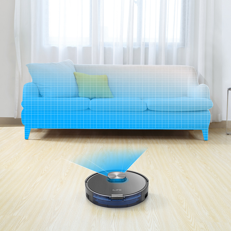 ILIFE A10s Robot Vacuum Cleane,LDS laser navigation, Smart Planned WIFI App Remote Control,Draw Cleaning Area On Map 2