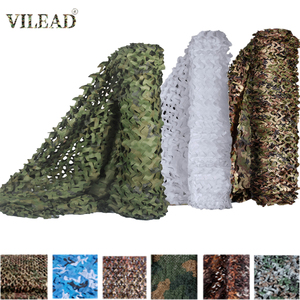 VILEAD Simple 1.5x6 1.5x10 Camouflage Nets White Mesh 1.5M Army Military Camo Netting for Hunting Car Covers Tent Sun Shelter(China)